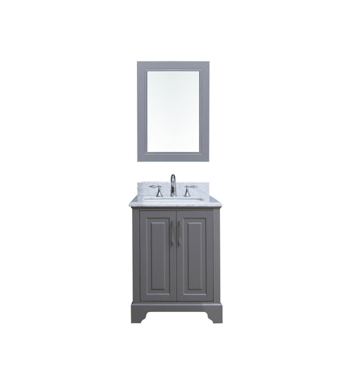 Jordan- 24 inch Traditional Freestanding Gray Bathroom Vanity w/ Marble Top