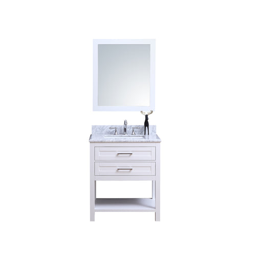 Penelope- 24 inch Traditional Freestanding White Bathroom Vanity w/ Marble Top