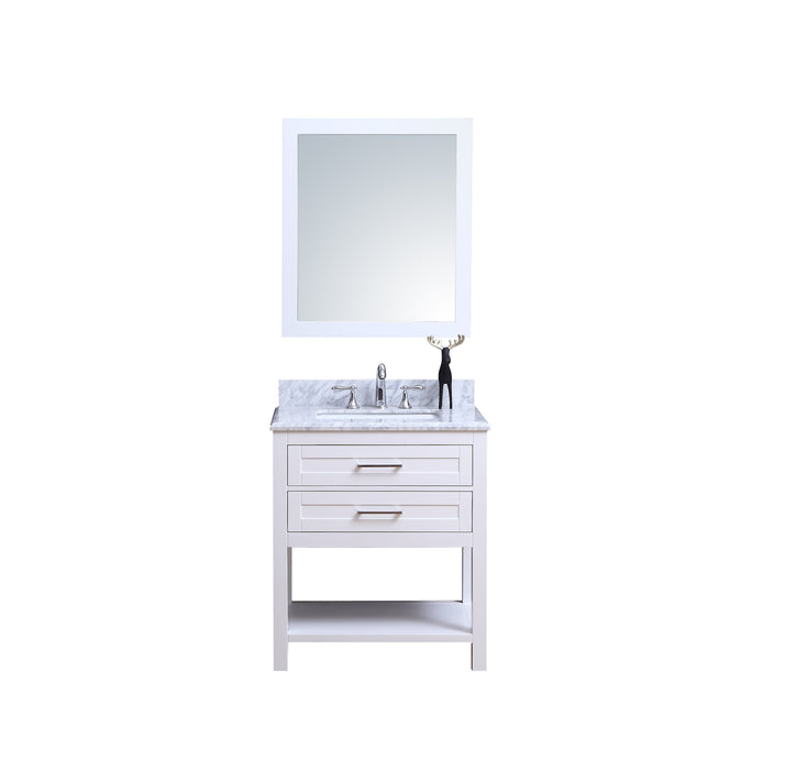 Penelope 24 Inch Traditional Freestanding White Bathroom Vanity W