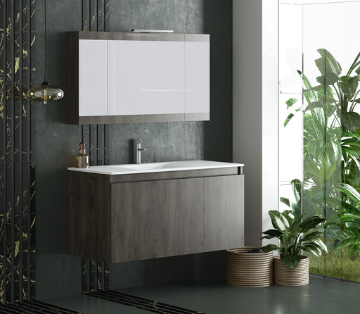 "Homer 40"" Modern, Wall Mounted Floating Bathroom Vanity"
