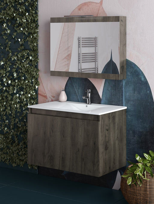 "Otis 30"" Modern, Wall Mounted Floating Bathroom Vanity"