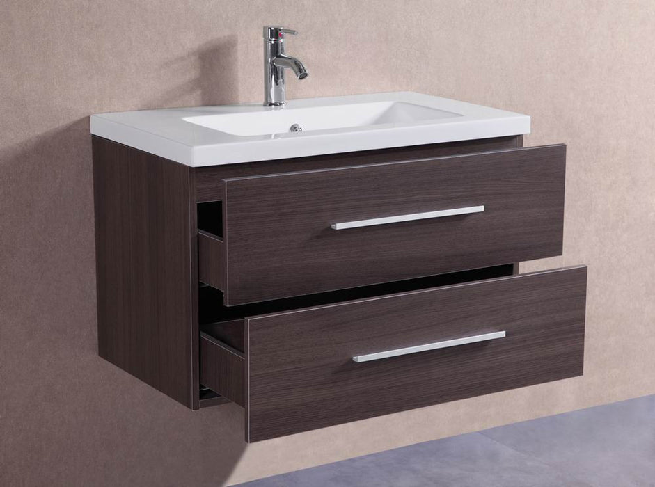 William 32 inch modern wall mounted bathroom vanity - Bathroom vanities 32 inches wide ...
