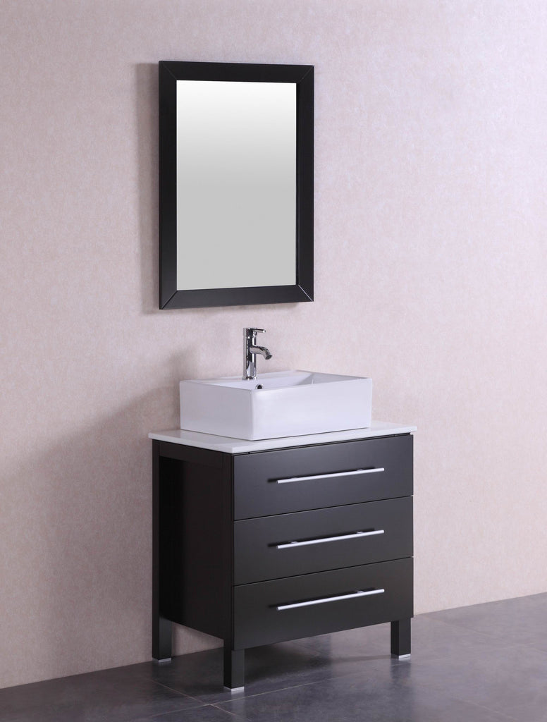 modern bathroom vanity sink larry 28 inch modern espresso bathroom vanity w 19602