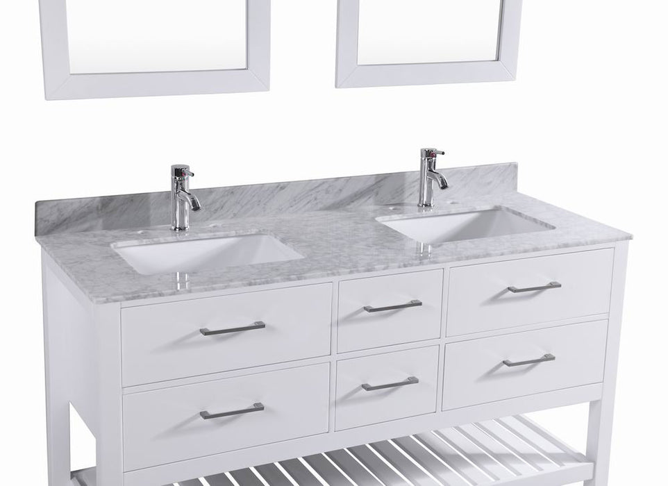 white bathroom vanities with marble tops. Top Franklin- 60 Inch White Bathroom Vanity W/ Double Sink \u0026 Marble Vanities With Tops