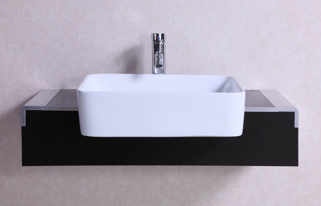 Skyler- 32 inch Modern Wall Mounted Espresso Bathroom Vanity w/ Vessel Sink