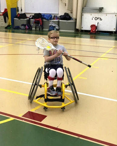 Bennett Blazers Wheelchair Lacrosse in Baltimore Maryland using Swax Lax Lacrosse Training Balls