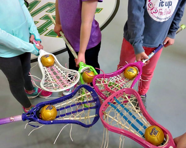 Young Lacrosse Players Testing the Swax Lax Training Balls