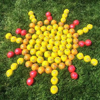 Swax Lax Balls in shape of large sun