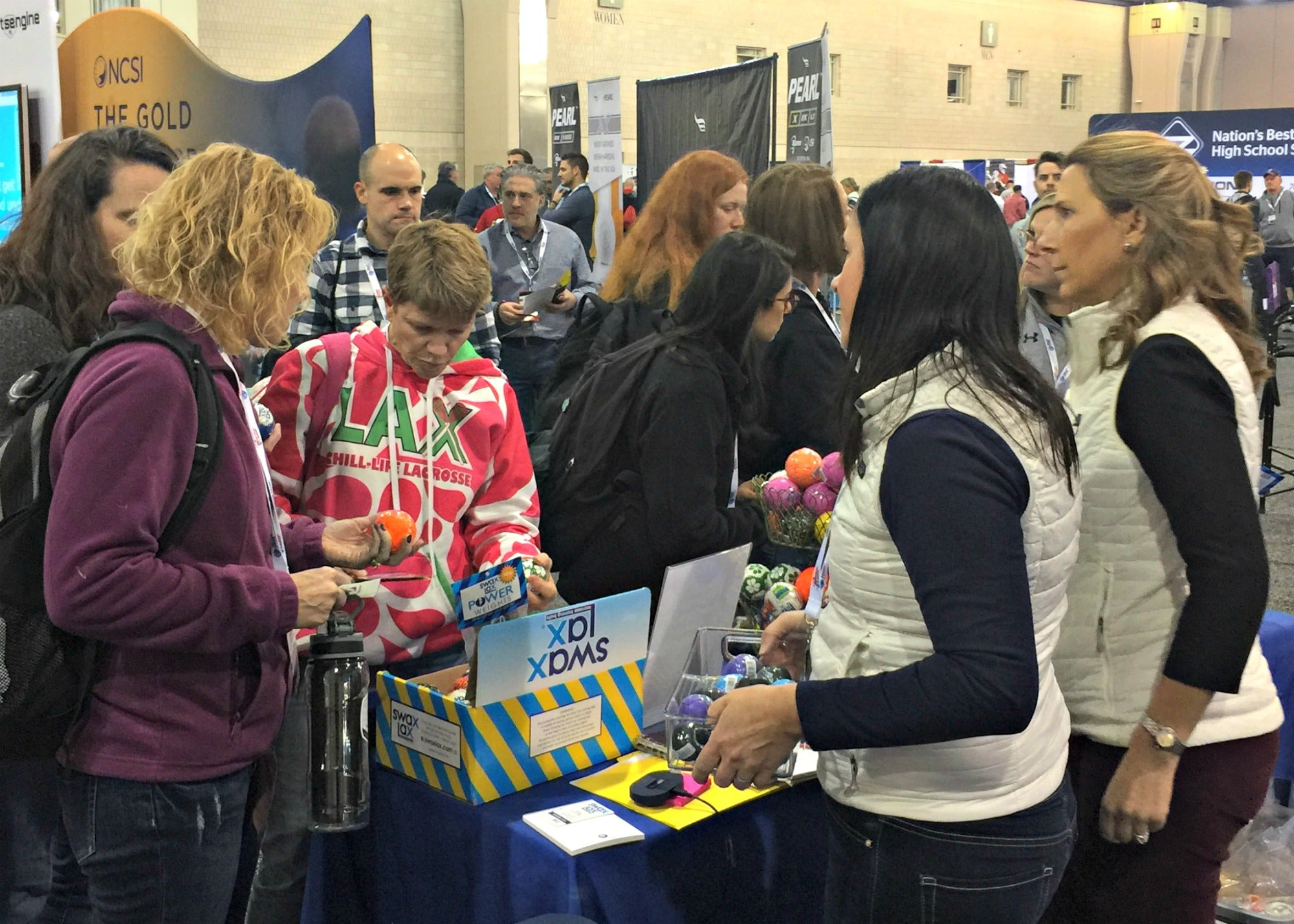 Fans flock to Swax Lax booth at LaxCon 2020