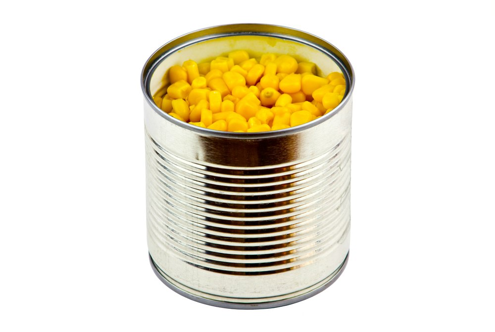Can of corn representing a corny slogan