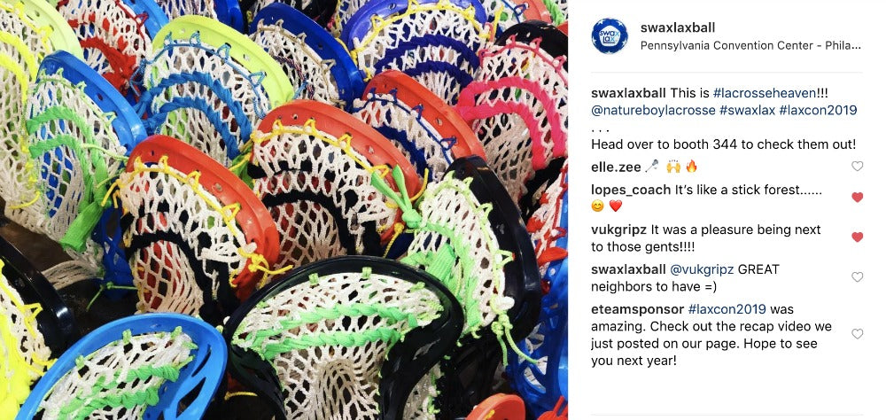 Nature Boy Lacrosse hand-crafted mini lacrosse sticks at LaxCon