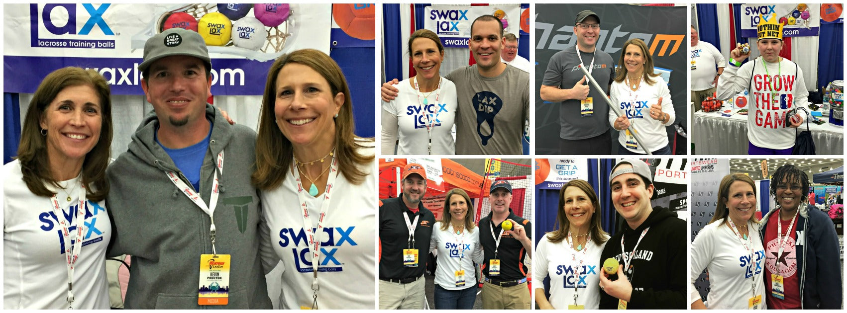 Swax Lax Enjoying Meeting Fans and Coaches at Laxcon 2017