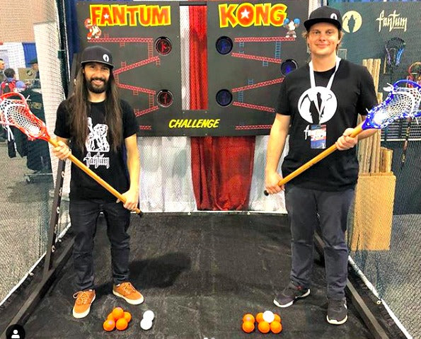 The Fantum Lacrosse booth at LaxCon2019 with Swax Lax lacrosse training balls