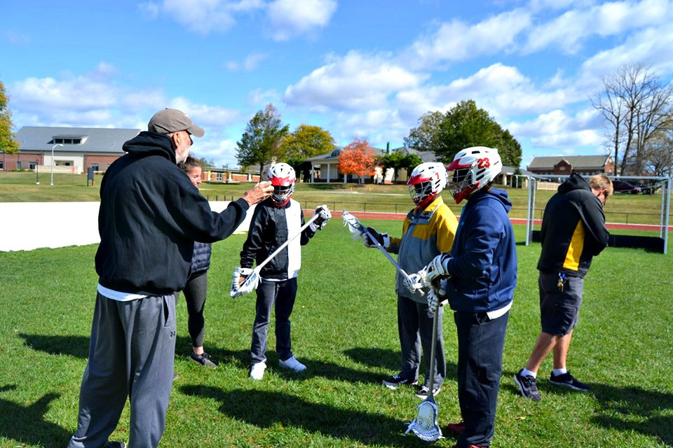 Maryland School for the Blind and Parkville Adaptive Lacrosse using the first sonic ball for blind lacrosse players