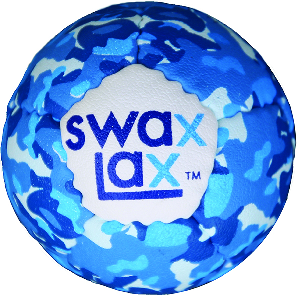 Blue camouflage limited edition Swax Lax soft lacrosse training ball