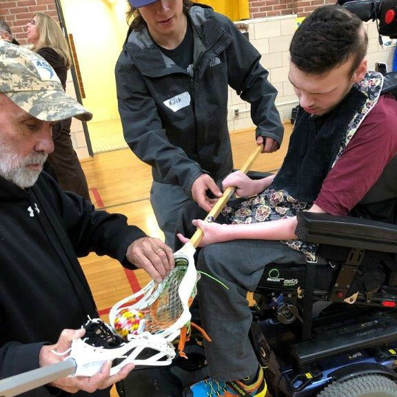 Maryland School for the Blind tries an adapted Swax Lax lacrosse training ball
