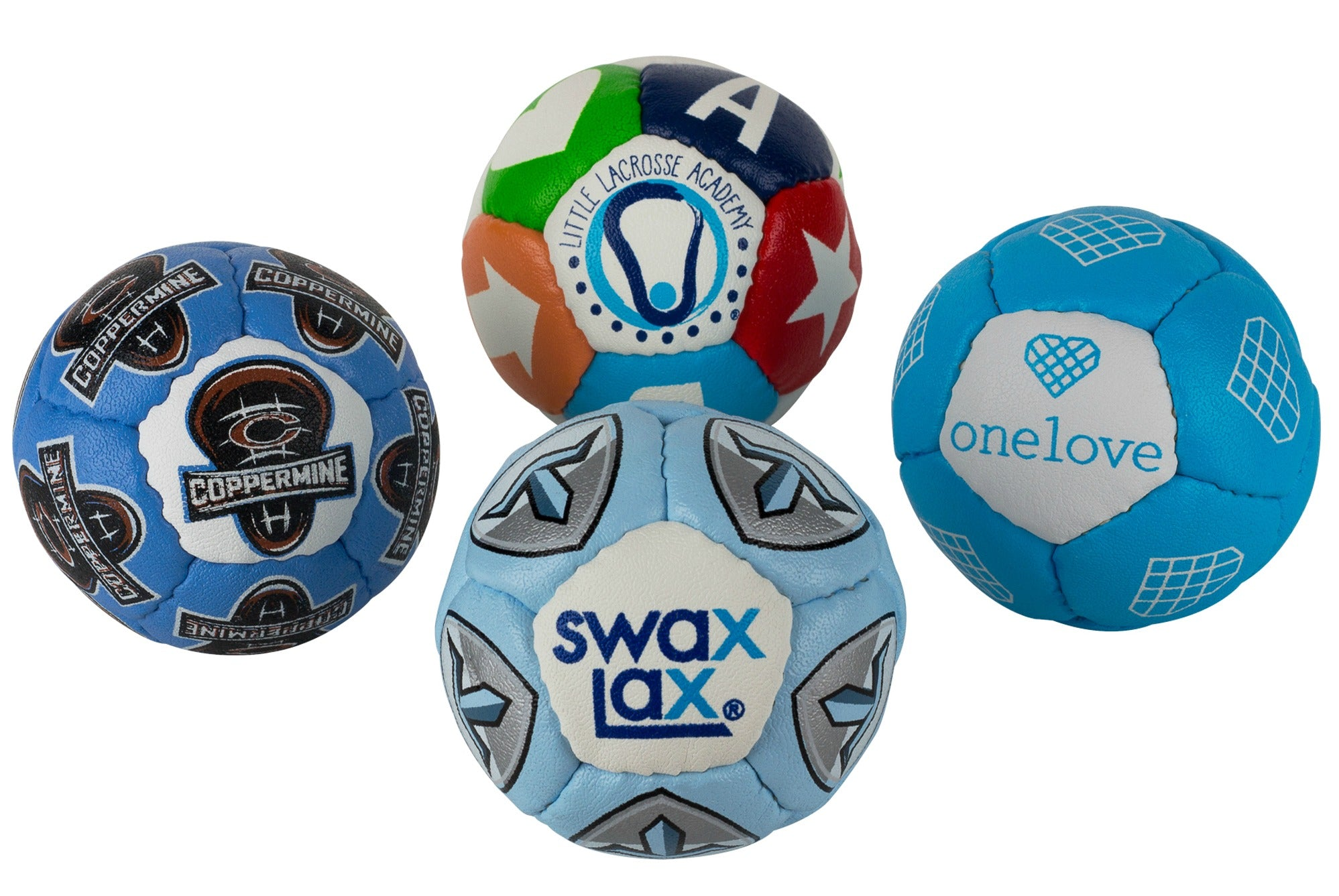 Customized Swax Lax lacrosse training balls for teams, booster clubs, fundraisers, sports stores