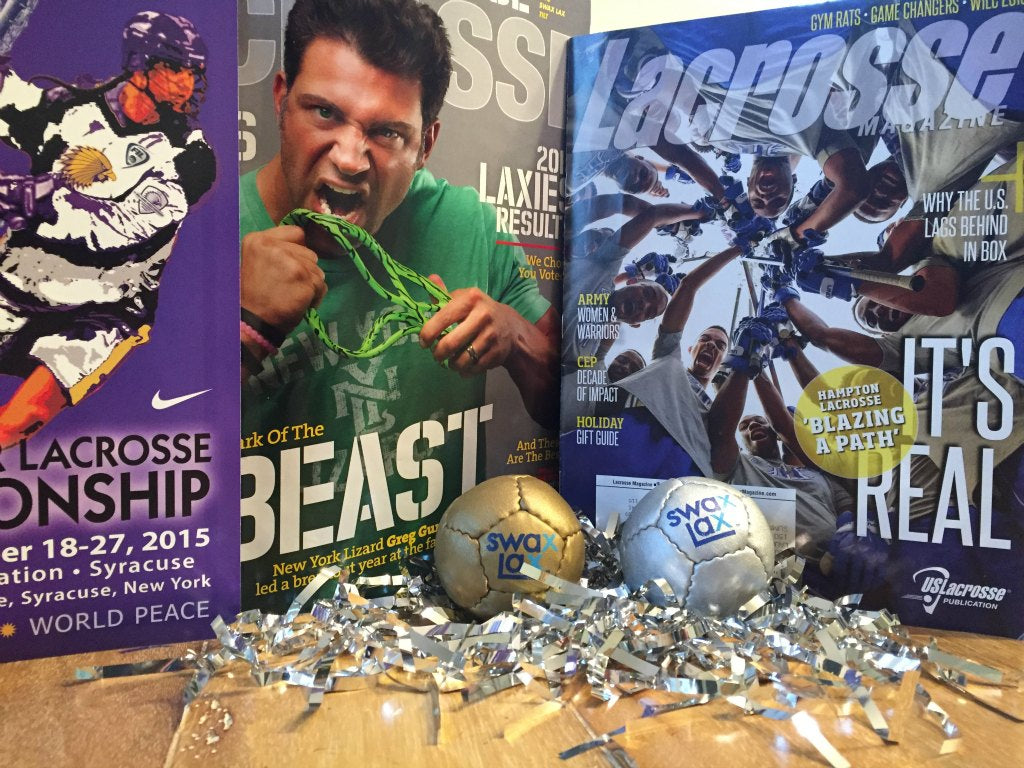 Swax Lax lacrosse training balls mentioned in Inside Lacrosse and Lacrosse magazine