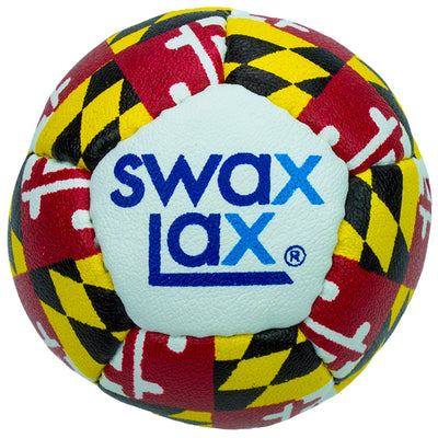 Swax Lax lacrosse training ball - Maryland pattern - front view