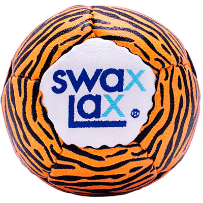 Swax Lax lacrosse training ball - Tiger pattern - front view