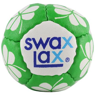 Swax Lax lacrosse training ball - Shamrock pattern - front view