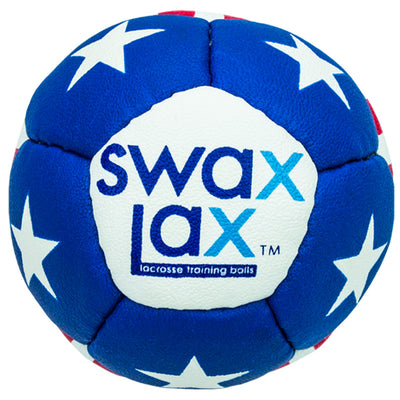 Swax Lax lacrosse training ball - Stars n Stripes pattern - front view