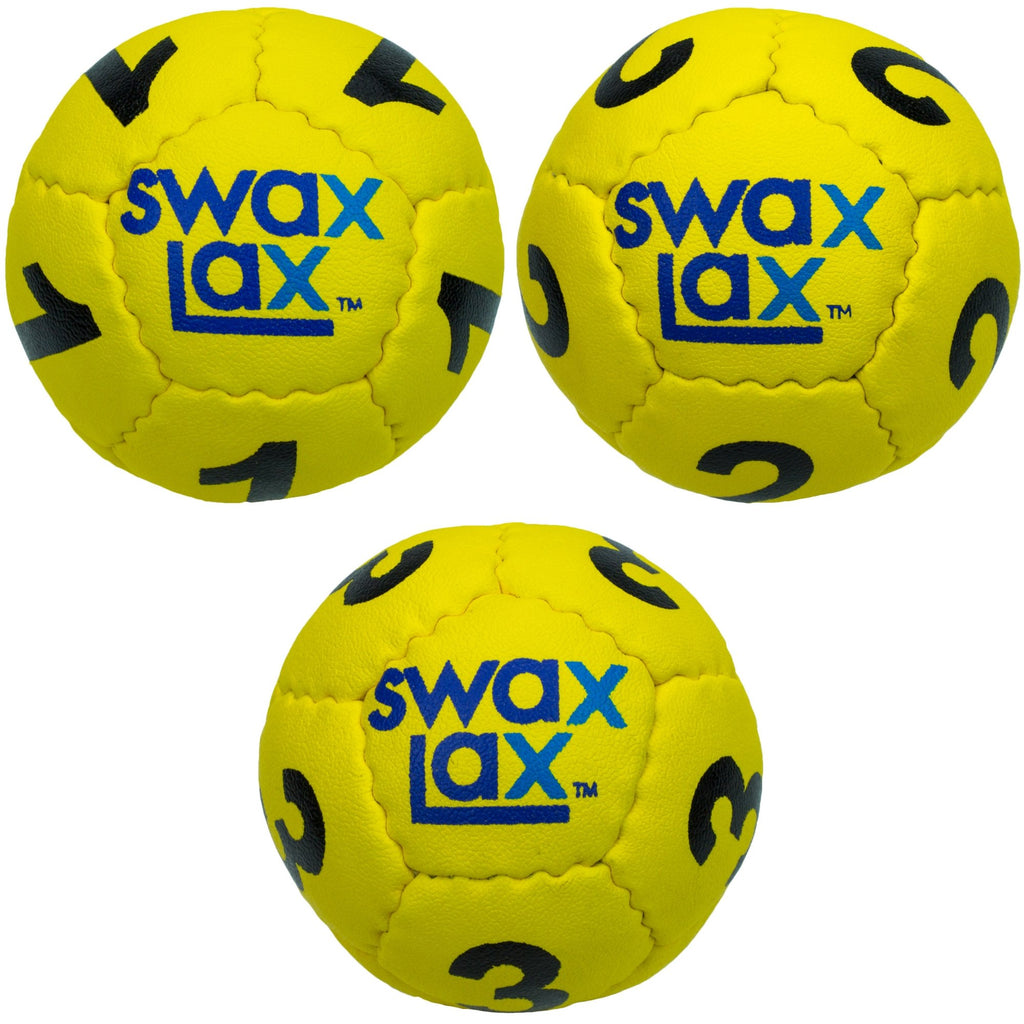 Yellow goalie lacrosse training balls