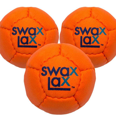 Orange Swax Lax lacrosse training ball 3-pack