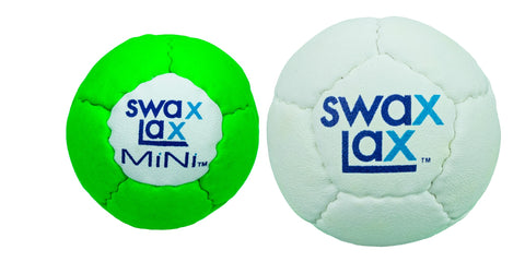 MiNi compared to regular Swax Lax lacrosse training ball
