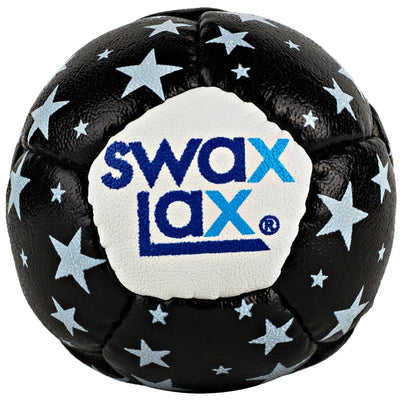 Swax Lax lacrosse training ball - black stars pattern