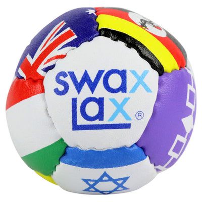 Swax Lax lacrosse training ball - flag pattern - front view