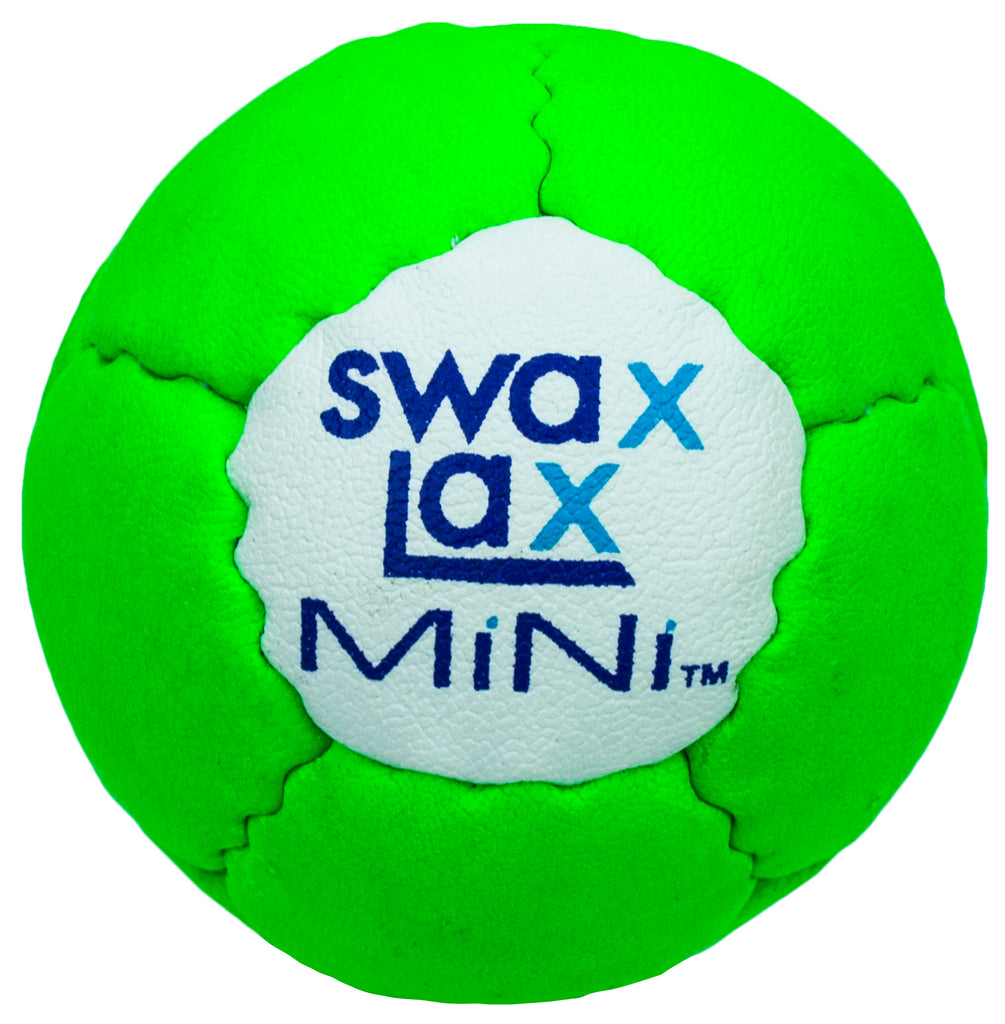 Swax Lax MiNi soft lacrosse training ball - green