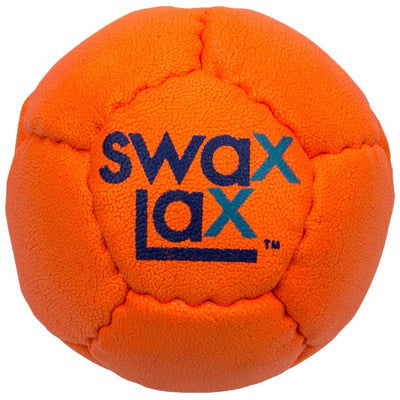 Orange Swax Lax lacrosse training ball - perfect for indoor or outdoor practice
