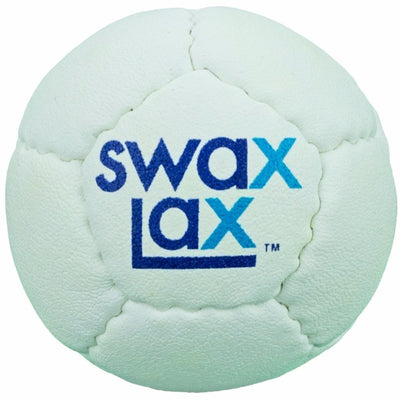 White Swax Lax Lacrosse Practice Ball - Indoor Training Ball