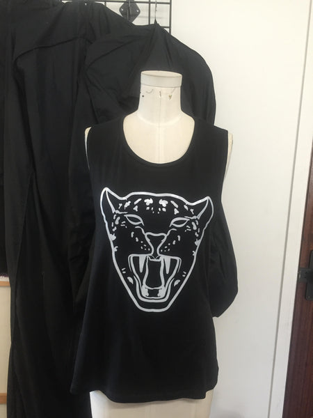 Black Leopard Face Tank
