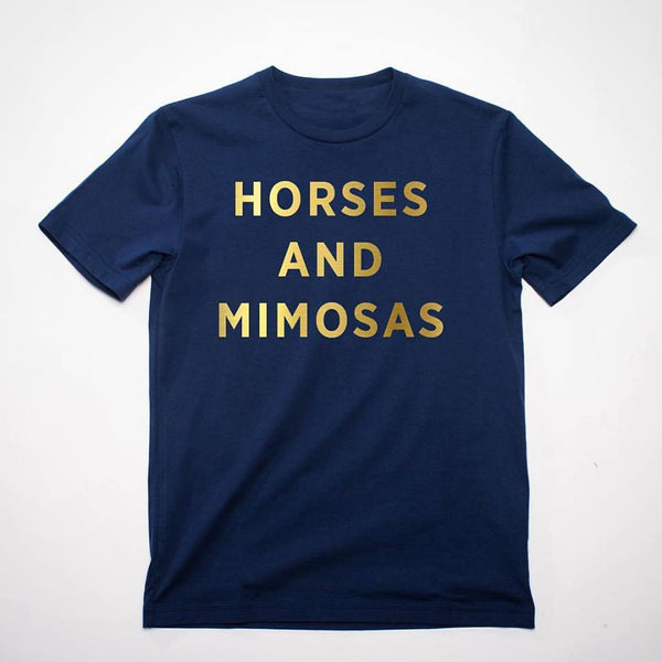 HORSES AND MIMOSAS TEE
