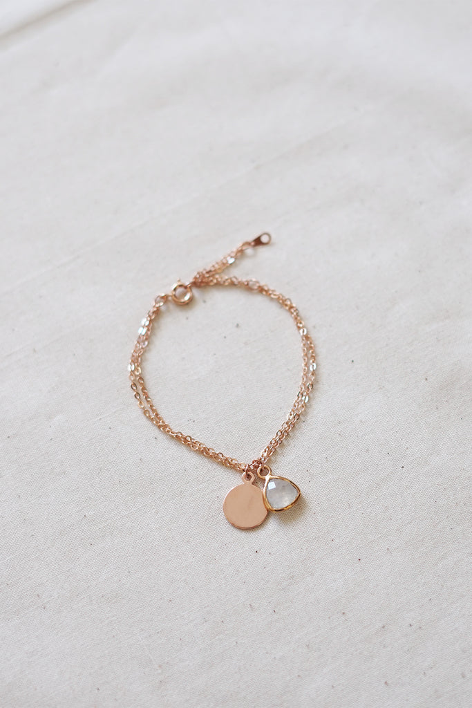 Moonstone Rose Gold Bracelet