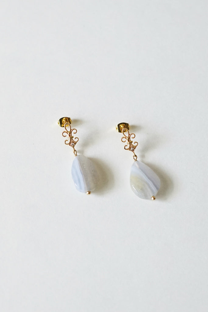 Divine Lace Agate Earrings
