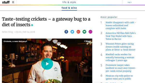 Taste-testing crickets – a gateway bug to a diet of insects!
