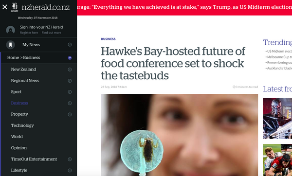 Hawke's Bay-hosted future of food conference set to shock the tastebuds!