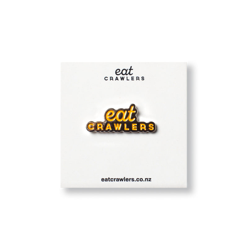 Eat Crawlers Enamel Pin