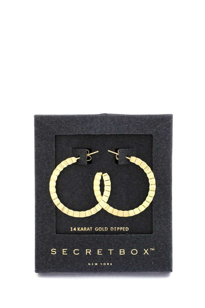 Secret Box Open Hoop Earring - Shalaunie's Closet