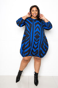 Zebra Bubbled Dress - Shalaunie's Closet