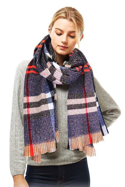 Stylish Plaid Modern Check Scarf - Shalaunie's Closet