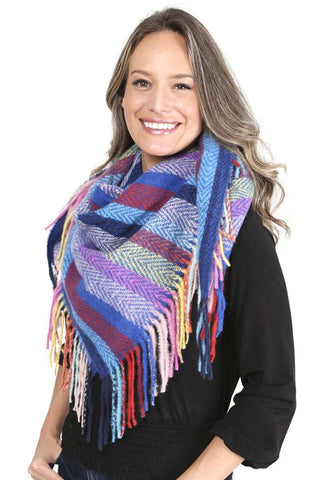 Stripes Blanket Scarf With Fringes - Shalaunie's Closet