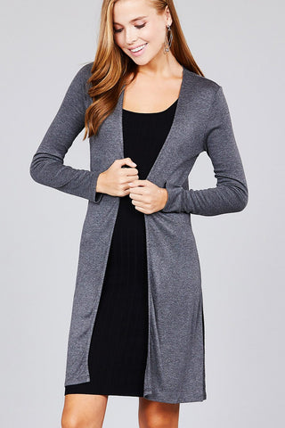 Side Slit Tunic Cardigan - Shalaunie's Closet