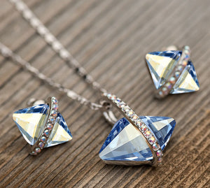Open image in slideshow, Rhombus Crystal Jewelry Set