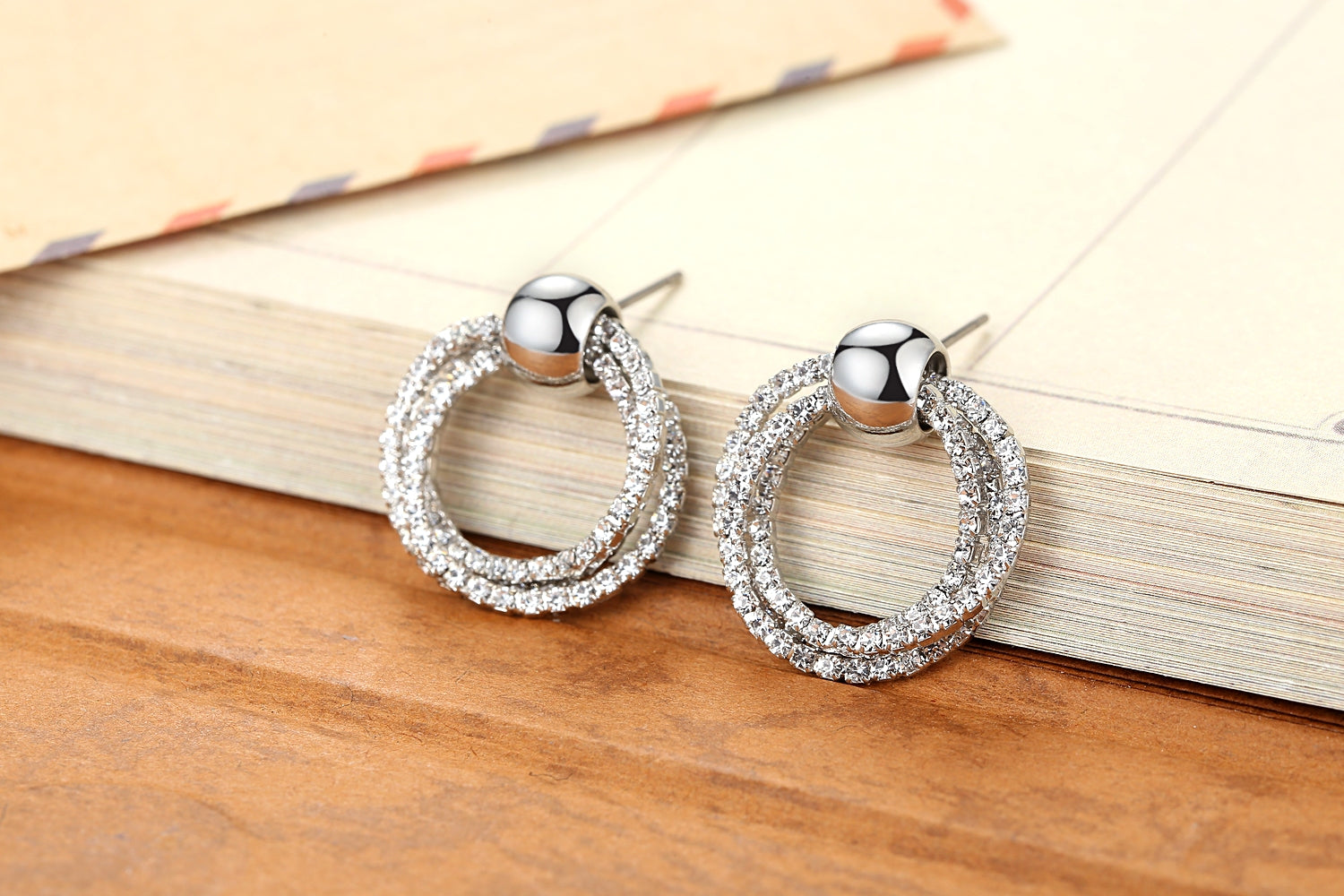 Hoops Crystal Jewelry Set