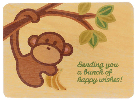 monkey wood card
