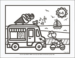 mighty moms icecream truck coloring page